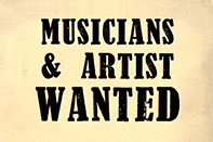 Musicians and Artists Wanted