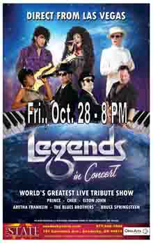 Legends in Concert Small Banner